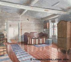Watercolours, Finland, Outdoor Decor, Room, Furniture, Home Decor, Art, Museum, Bedroom