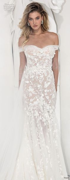 persy couture 2019 bridal off the shoulder sweetheart neckline full embellishment romantic fit and flare wedding dress chapel train (2) lv -- Persy Couture 2019 Wedding Dresses #wedding #bridal #weddings