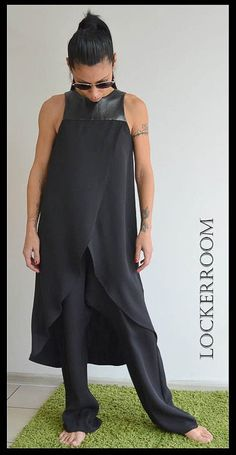 Black Loose Jumpsuit / Black Maxi Jumpsuit by ClothesByLockerRoom