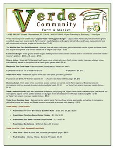 Verde Community Farm & Market | Cafe'