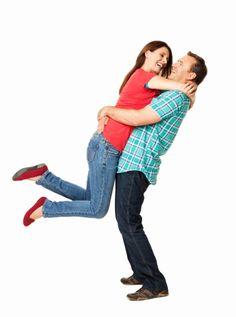 Imagen libre de derechos: Romantic Husband Picking Up His Wife…