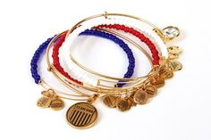 Olympic bangles, by Alex and Ani