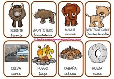 vocabulario-prehistoria-1 School Projects, Projects For Kids, Shared Reading, Teaching History, Social Science, Learn To Read, Learning Activities, Phonics, Preschool