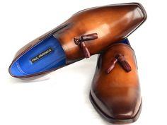 Paul Parkman Men's Tassel Loafer Walnut Leather Sole Leather Upper (ID#5141)