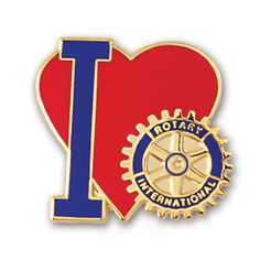 Russell-Hampton Co. Rotary Club Supplies: I Love Rotary Pin
