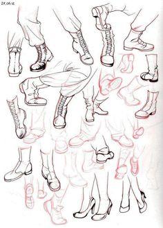 Shoes draw,  drawing,  boceto, sketch, dibujo