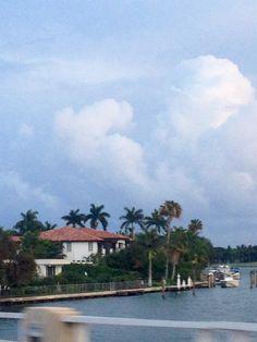 One of the islands near Miami Beach.