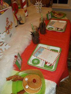 North Pole breakfast party!  See more party planning ideas at CatchMyParty.com!