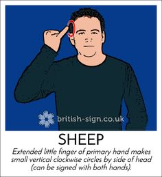 Sheep English Sign Language, Sign Language Phrases, Sign Language Alphabet, British Sign Language, Learn Bsl, Learn To Sign, Makaton Signs, Science Signs, Language Dictionary