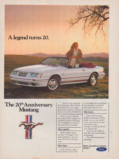 Oxford White 1984 Mustang GT350 20th Anniversary Convertible Advertisement