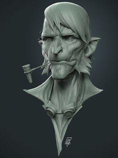Laurent DuryLunchcrunch Hobbit - ZBrush sculpt, rendered in Keyshot Zbrush Character, Character Modeling, 3d Character, Character Design, Zbrush Models, 3d Models, Tutorial Zbrush, Zbrush Hair, 3d Portrait