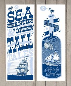 John Fellows Typography Prints, Typography Poster, Hand Lettering, Nature Illustration, Graphic Design Illustration, Nautical Design, Book Projects, Artist Art, Poster Prints