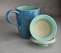 Lidded+Tea+Mug+Made+To+Order+Stoneware+Tea+by+symmetricalpottery,+$40.00