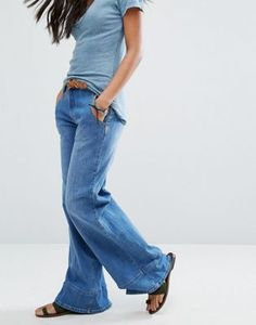 Free People High Waisted Bell Flared Jeans