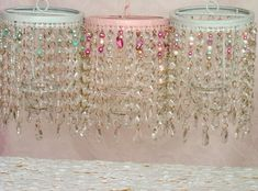 Chandelier Candle Holders in Pink White & Aqua | Flickr – Compartilhamento de fotos!