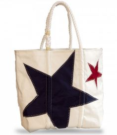 Sea Bags Beach Tote made from recycled sail cloths.