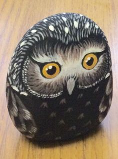 Another stone painting of an owl to take to the craft club