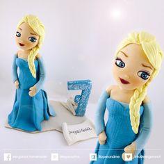 ...ele-ganza...:  birthday cake topper from elsa disnay movie #caketopper #compleanno #principessa #elsa #anna #elsaandanna #from #frozen #toppercake #topcake #sopratorta #birthdayparty #festacompleanno #cakedecoration #modelling #clay #fondant #cakefigurine #frozenbirthday #frozencake