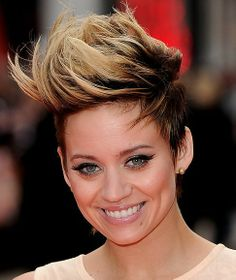 Kimberly Wyatt faux-hawk hairstyle