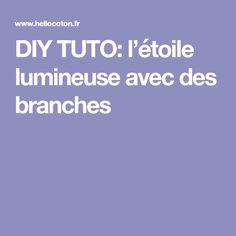 DIY TUTO: l'étoile lumineuse avec des branches