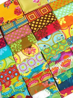 new fabric! by Angela - Fussy Cut, via Flickr!  AAAHHH!!!  Overwhelmed with happiness!