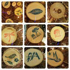 Magnets sur rondelles en bois