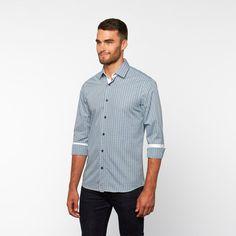 Tattersall Button-Down Shirt // Blue + Green (S)