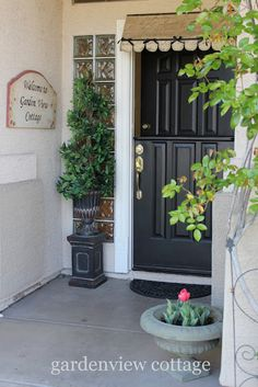 gardenview cottage: How to make a dutch door - but I also love the little awning above her front door.  Very cute!