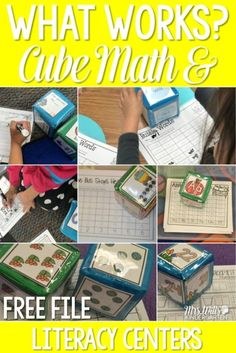 Looking for printable worksheets to improve your students' math and literacy skills? Check out these kindergarten differentiation cube activities! Great for centers or stations! FREE file included