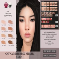 25 Best SL Asian Skins for Catwa images in 2017 | Asian