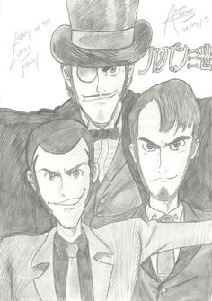 Legacy of the Lupin Family by AkumaSeinko.deviantart.com on @DeviantArt——— Lupin the First, Second and Third