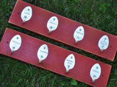 2  Key racks 8 Personalized Mini Spoon Hooks Rack by jjevensen, $65.00