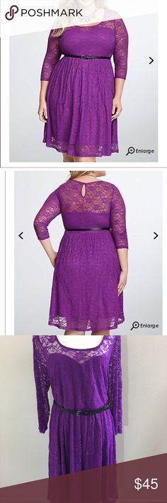Torrid Purple Lace Skater Dress New with tags. Please feel free to ask any questions. torrid Dresses Midi
