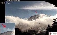 MÉXICO: Capturado UFO por Câmeras no Vulcão Popocatépetl