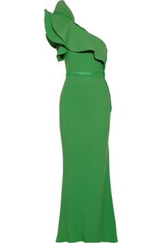 Lanvin | One-shoulder ruffled crepe gown | NET-A-PORTER.COM $5,845