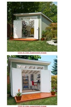 Contemporary outdoor shed. Outdoor Sheds, Outdoor Rooms, Outdoor Living, Outdoor Kitchens, Outdoor Decor, Tough Shed, Yard Sheds, Garden Cabins, Custom Sheds