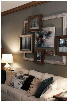 Living Room Wall Decor Ideas Above Couch Pictures. Inspirational Living Room Wall Decor Ideas Above Couch Pictures. 99 Diy Farmhouse Living Room Wall Decor and Design Ideas 22 Diy Home Decor Rustic, Rustic Wall Decor, Rustic Walls, Room Wall Decor, Diy Wall Decor, Cheap Home Decor, Living Room Decor, Home Decoration, Decoration Design