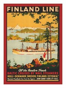 Baltic Cruise, Finland Travel, North Africa, Travel Posters, Vintage Posters, Boats, Poster Prints, Europe, Landscape