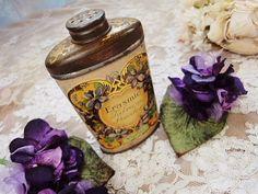 ❥ antique talcum powder
