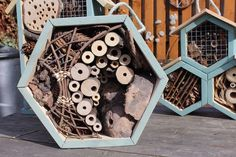 How to Make a Bee Home that Really Works: Bee and insect hotel made by Marta Zientek and Wojciech.