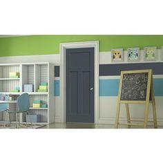 Jeld-Wen Slate Prehung Solid Core 3-Panel Craftsman Interior Door (Com