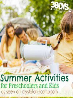 Summer Activities for Preschoolers and Kids