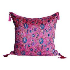 Indian Silk Block-Print Pillow ($195) ❤ liked on Polyvore featuring home, home decor, throw pillows, pillows, silk throw pillows, india home decor, colored throw pillows, pink accent pillows and silk accent pillows