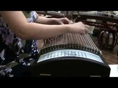 """Butterfly Lover"" 梁祝 - 古箏 Played on Sound of China Professional African Blackwood Guzheng ""Spring Breeze"" 唐韵专业黑檀绢画演奏筝 ""春风"" For more information, please visit..."