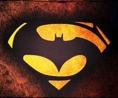 Batman and Superman logo. Soooo cool!
