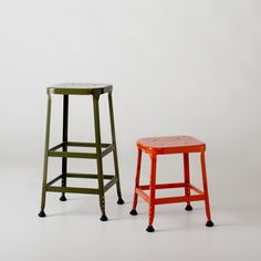 A pair of cute industrial stools will be handy and stylish!