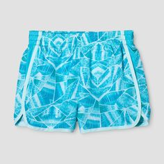 Girls' Printed Run Shorts - Champion Crystal Mint XL, Girl's, Green Gender: female. Shorts Outfits Women, Short Outfits, Green Girl, C9 Champion, Running Shorts, Athletic Shorts, Active Wear, Clothes For Women, Crystals