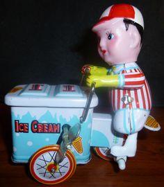 Ice Cream Vendor Wind Up Toy