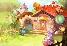 Road to Avonlea. - Kim Min Ji Road To Avonlea, Kim Min Ji, House Illustration, Witch Art, Illustrations And Posters, Illustrators, Fairy Tales, Drawings, Cute