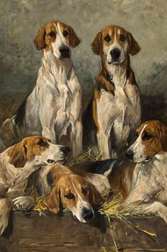The Bitchpack of the Meath, Foxhounds, Detail by John Emms | Art Posters